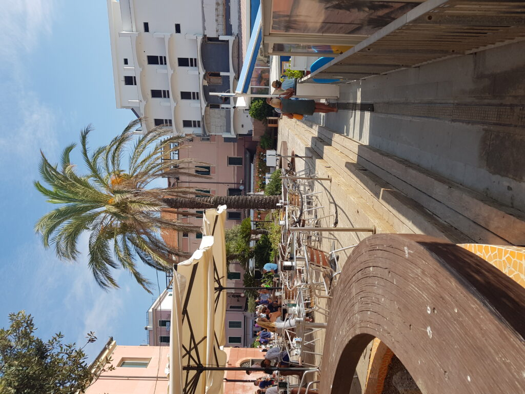 pleintje in centrum Alassio